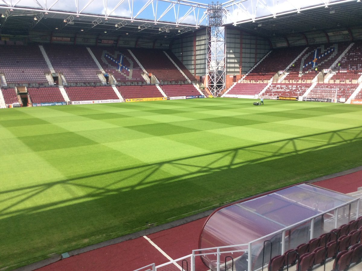 Tynecastle Park, home to Heart of Midlothian FC