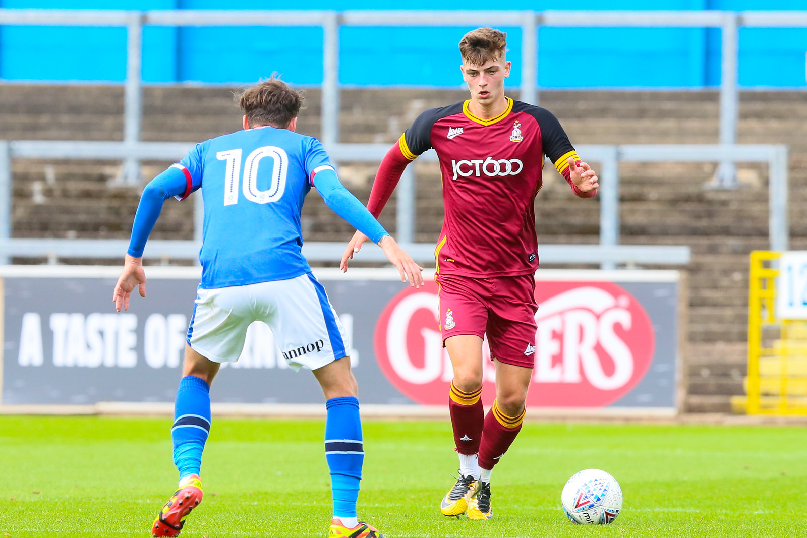 Luca Colville starred for City in pre-season, scoring a stunning goal against Bradford (Park Avenue) Picture: Thomas Gadd