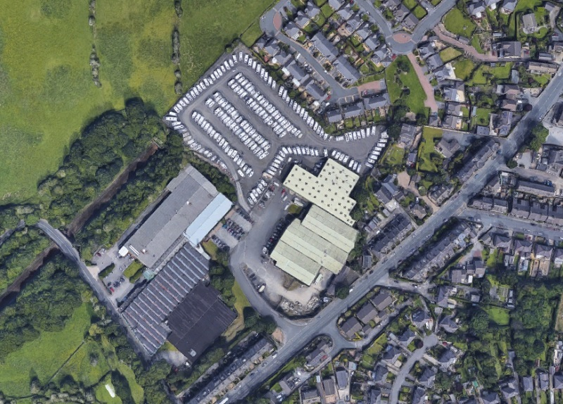 The caravan park on Huddersfield Road - picture from Google Earth