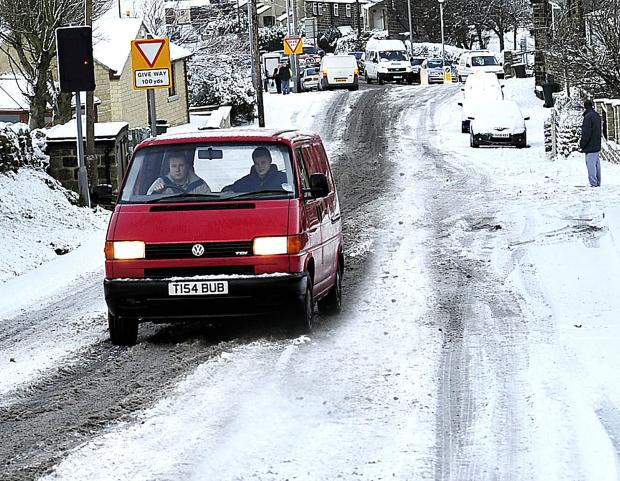 The cost of sorting out the icy roads in Bradford hit £1m
