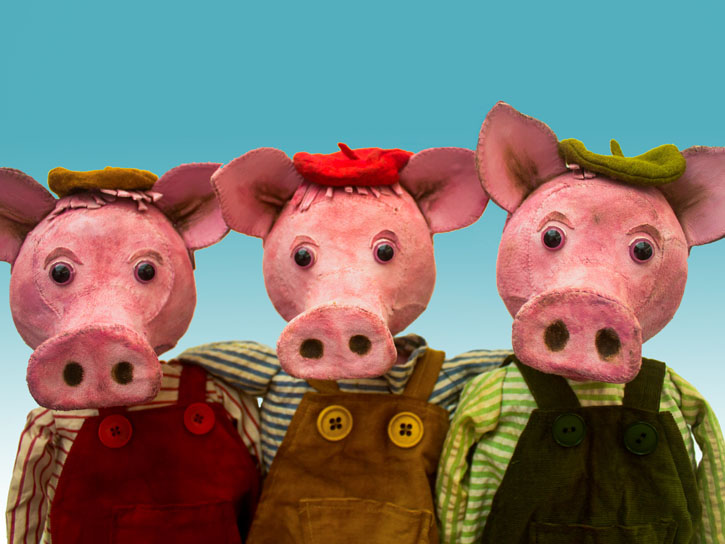 Garlic Theatre: Three Little Pig Tails In partnership with Rural Arts On Tour