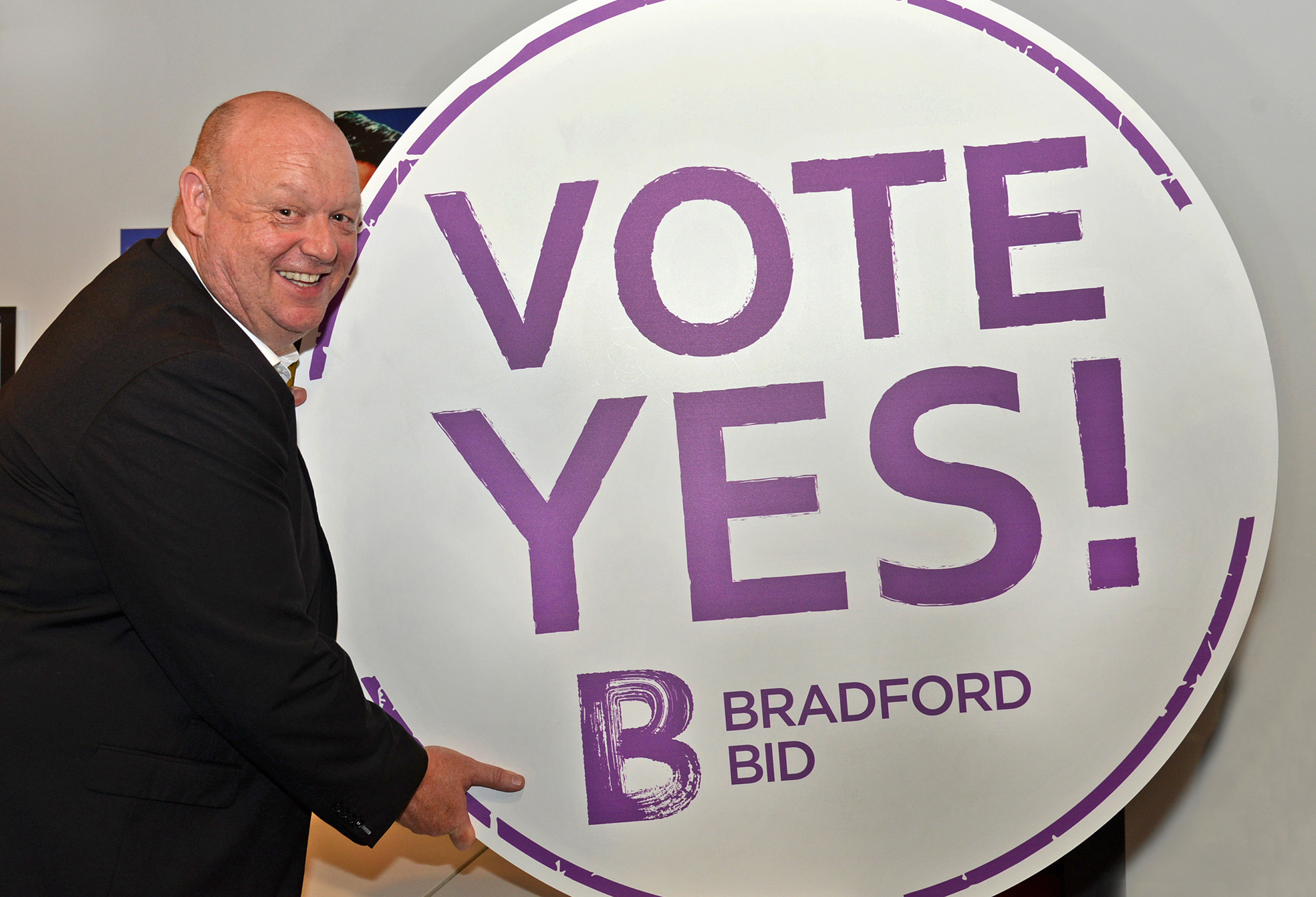 SUPPORT: Bradford Economic Partnership chair Dave Baldwin is backing the BID