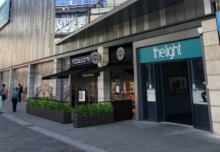An artist's impression of the new Pizza Express on Broadway