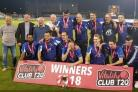 Hanging Heaton celebrate their Vitality Club T20 triumph