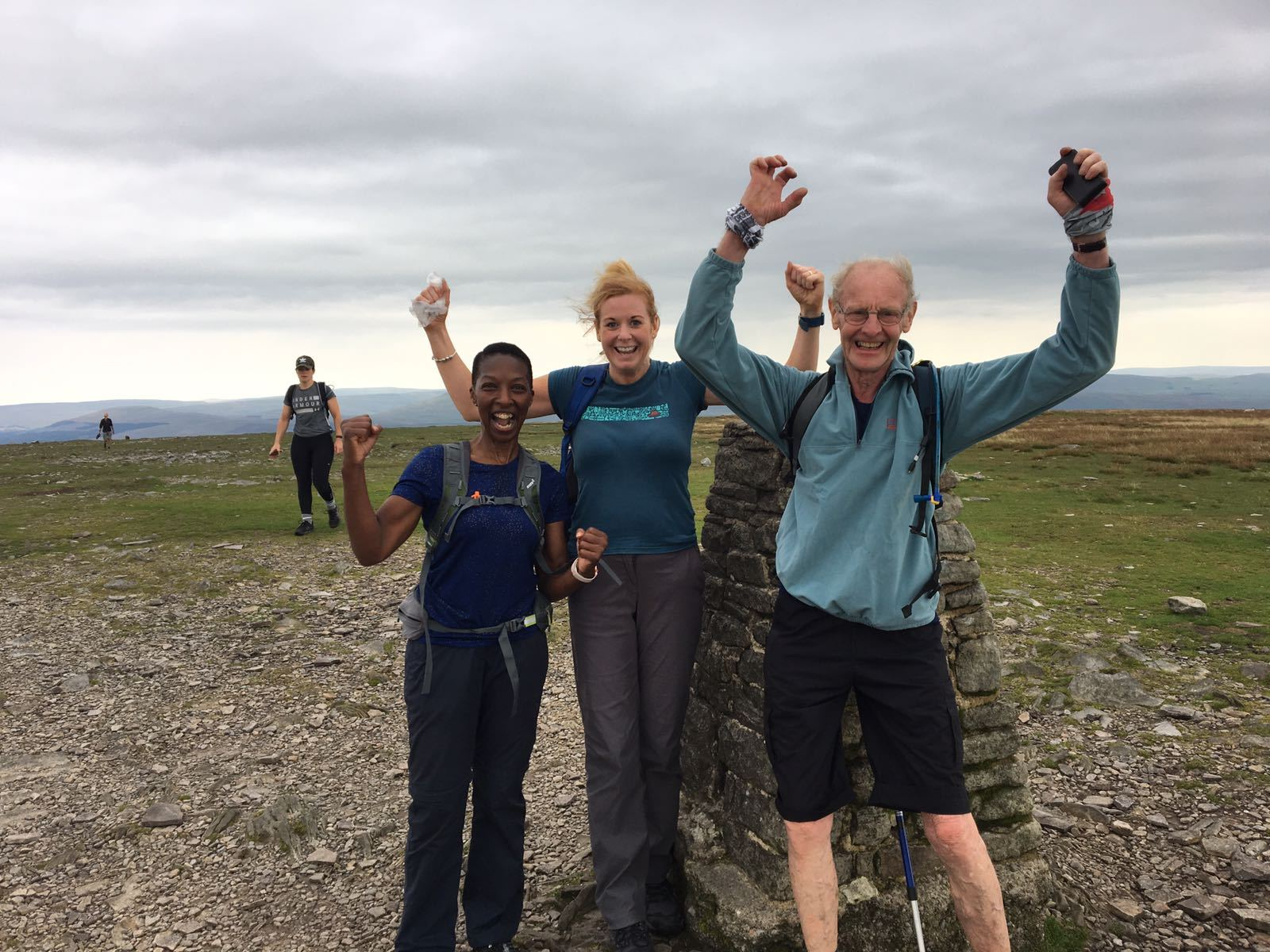 Peter Mitchell, 78, raised £700 for Bancroft Mill by completing the Three Peaks Challenge