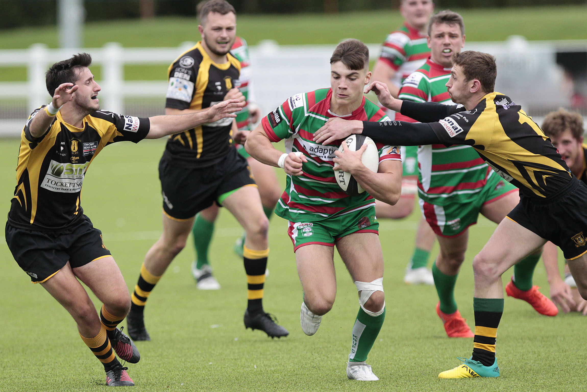 Josh Slingsby sets off on a run in his Keighley side's 29-22 win over Guisborough. Picture: Charlie Perry