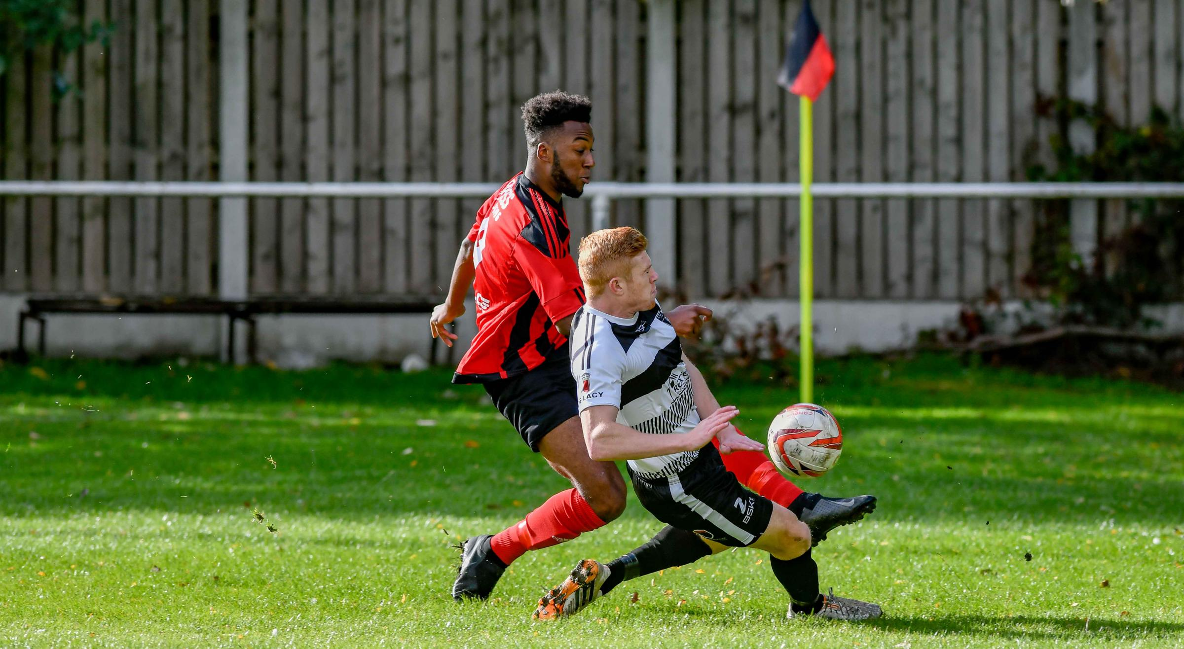 Laurence Sorhaindo netted an early equaliser but he could not prevent Campion from falling to a battling defeat at Liversedge in the West Riding County Cup Picture: Andy Garbutt