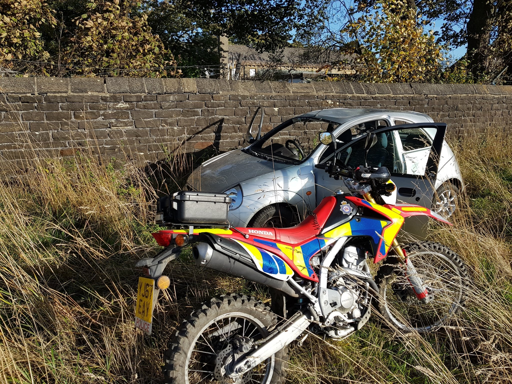A silver car was seized in the Bradford east area yesterday.