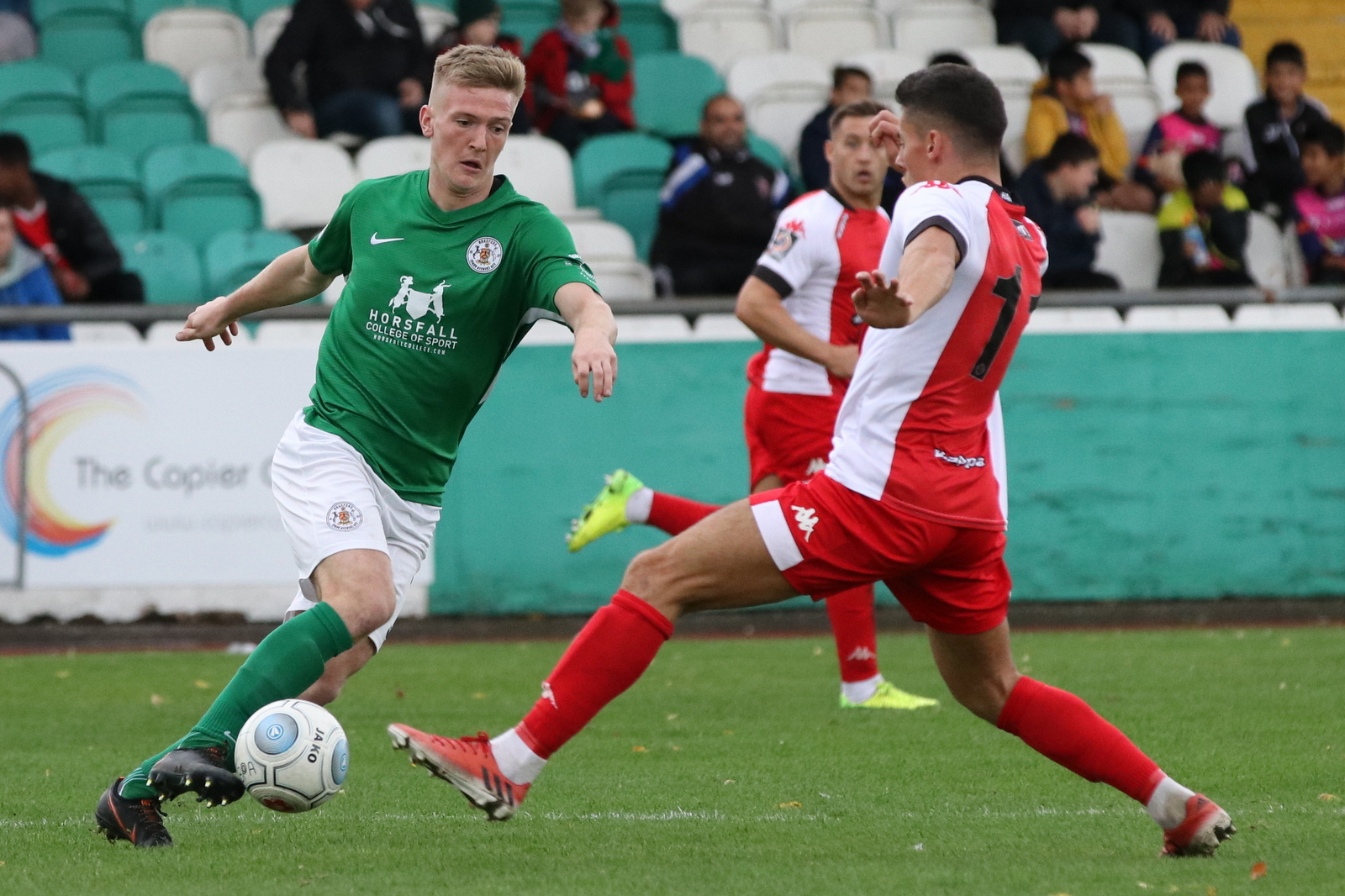 Jamie Spencer, left, is back for Bradford (Park Avenue) when they host Blyth Spartans tomorrow. Picture: John Rhodes