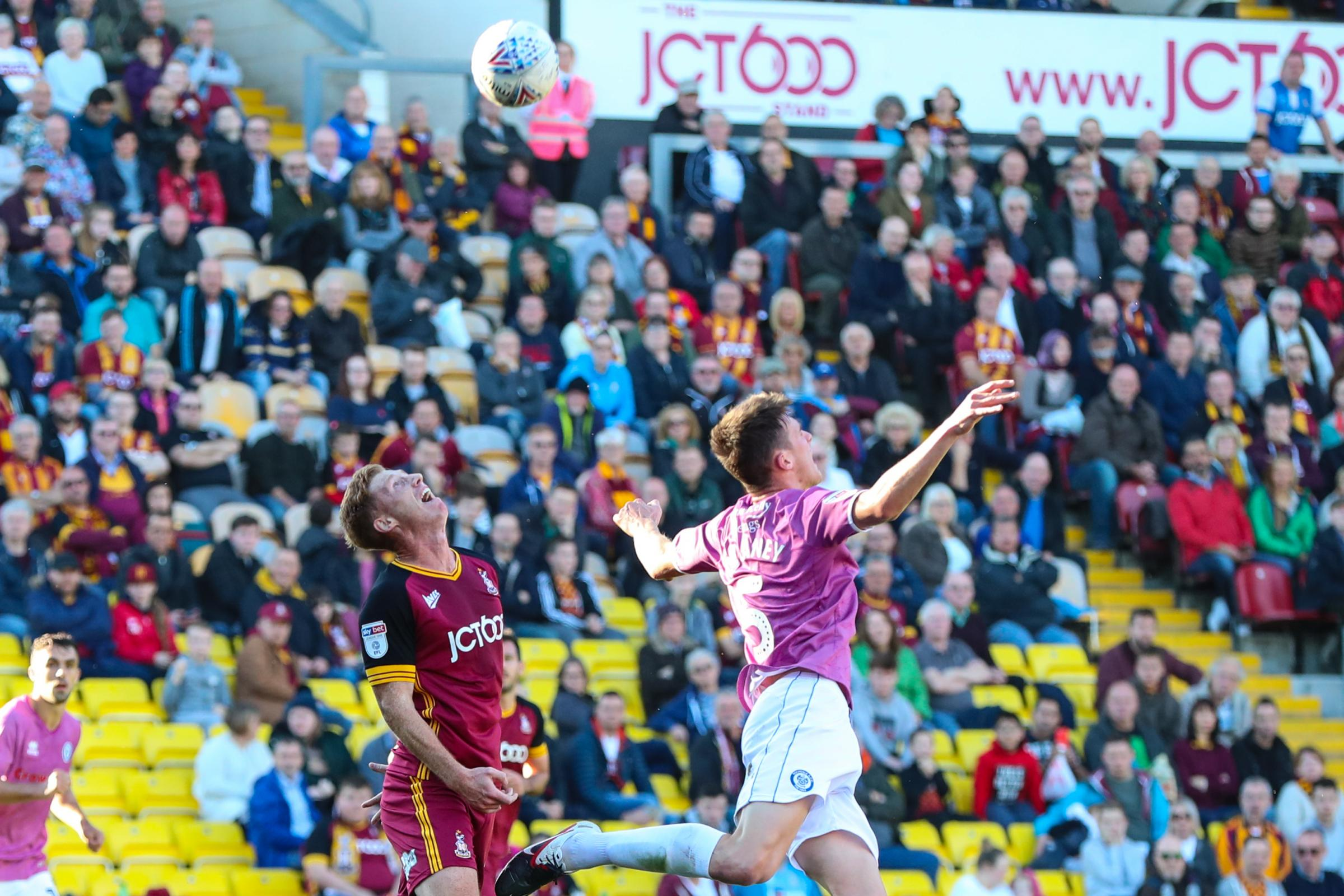 Action from Bradford City's home defeat to Rochdale. Pictures: Thomas Gadd