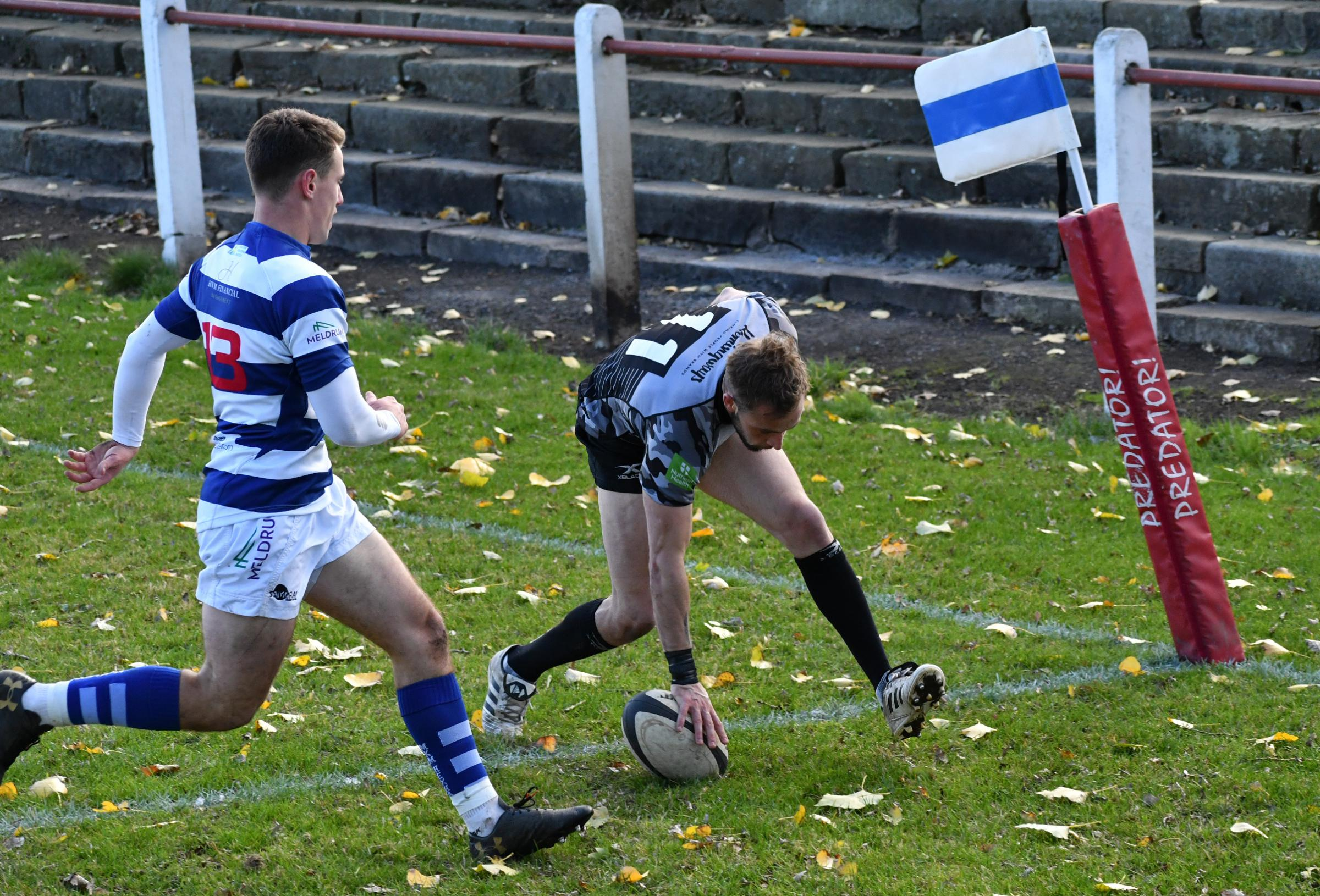 Stephen Nolson scored an early try as Otley blew Stourbridge away early on Picture: Richard Leach.