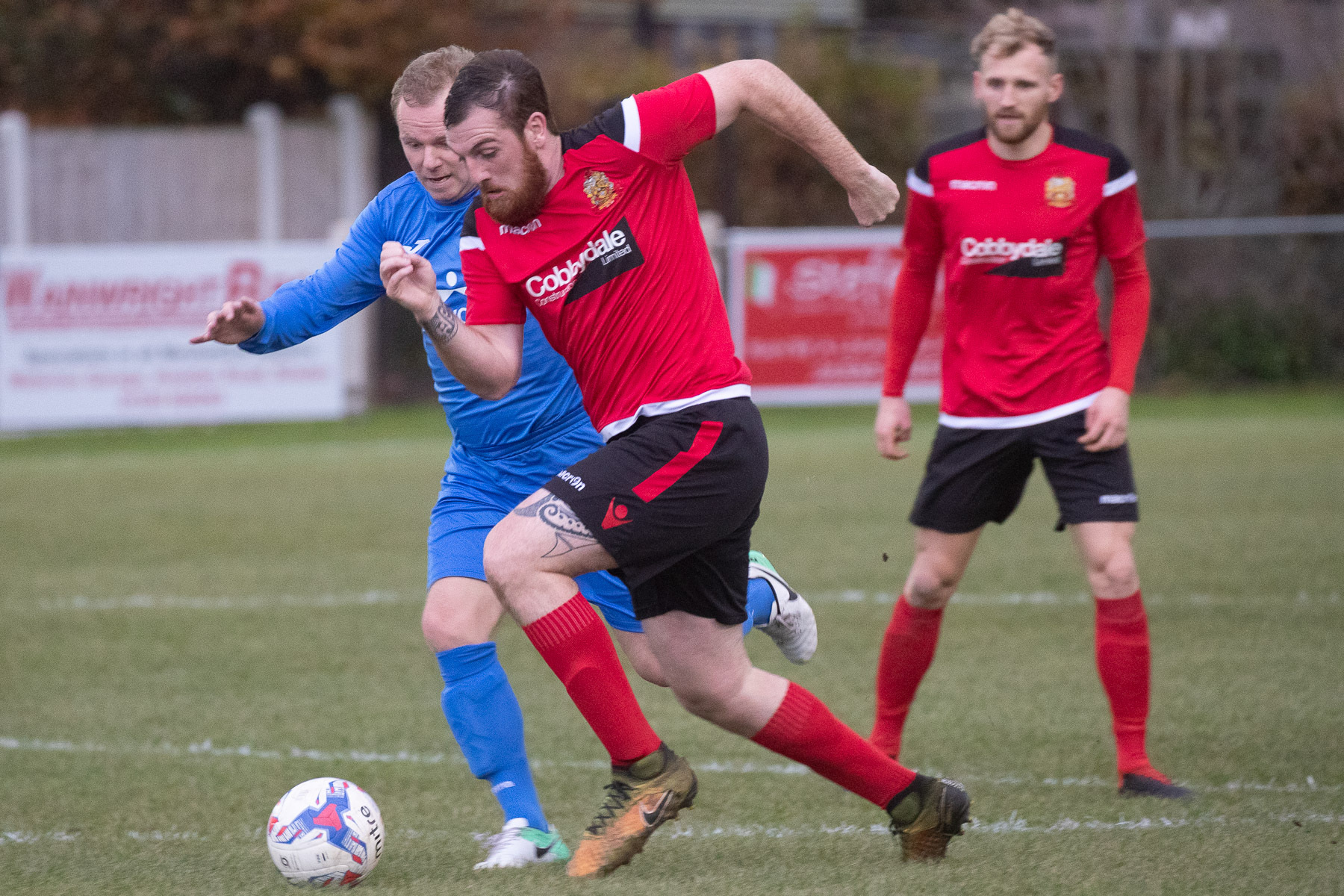Silsden's Reece Lyndon scored a late consolation goal against Irlam, but it meant little on a terrible afternoon for his side Picture: David Brett