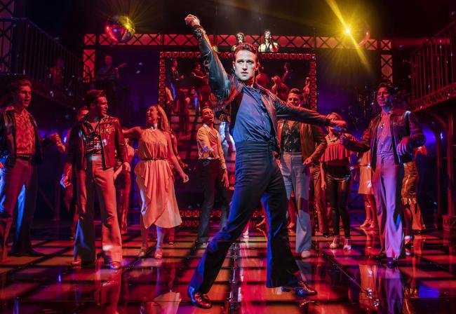 Richard Wynsor in Saturday Night Fever. Picture: PAMELA RAITH