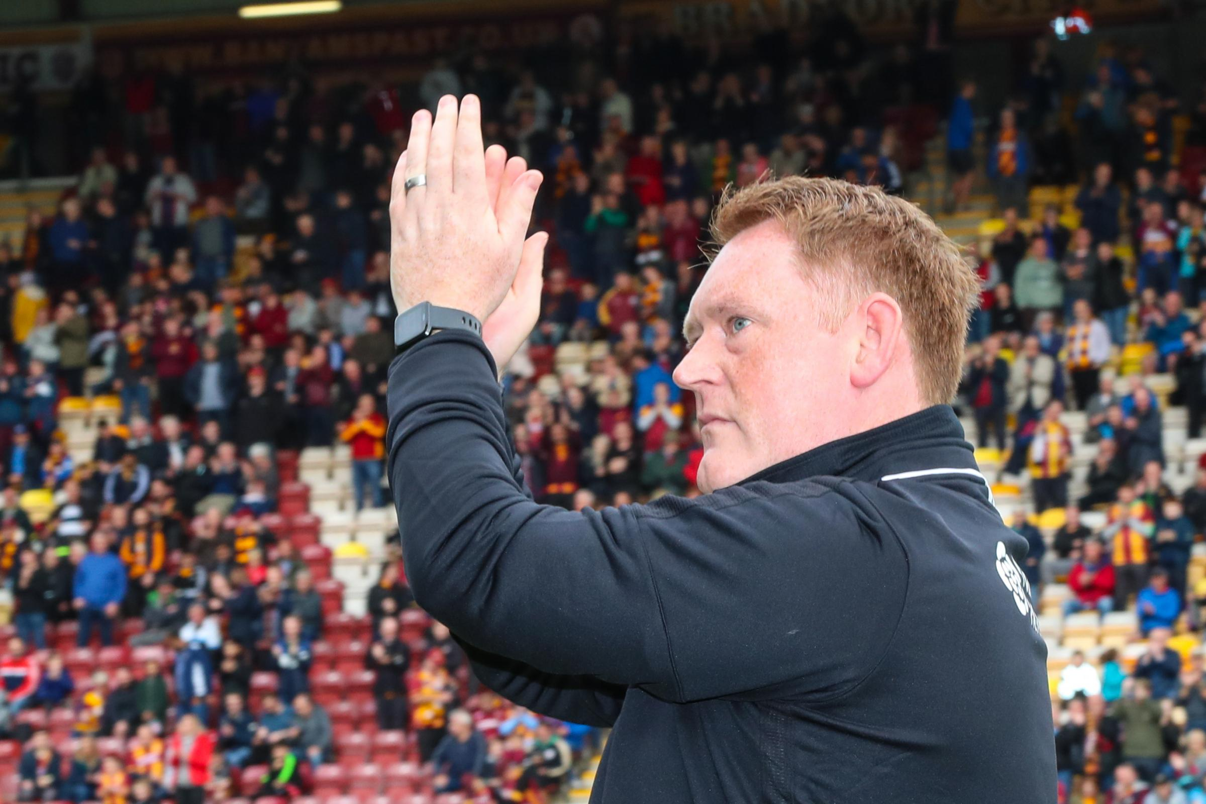 David Hopkin says he is loving being back at Bradford City. Picture: Thomas Gadd