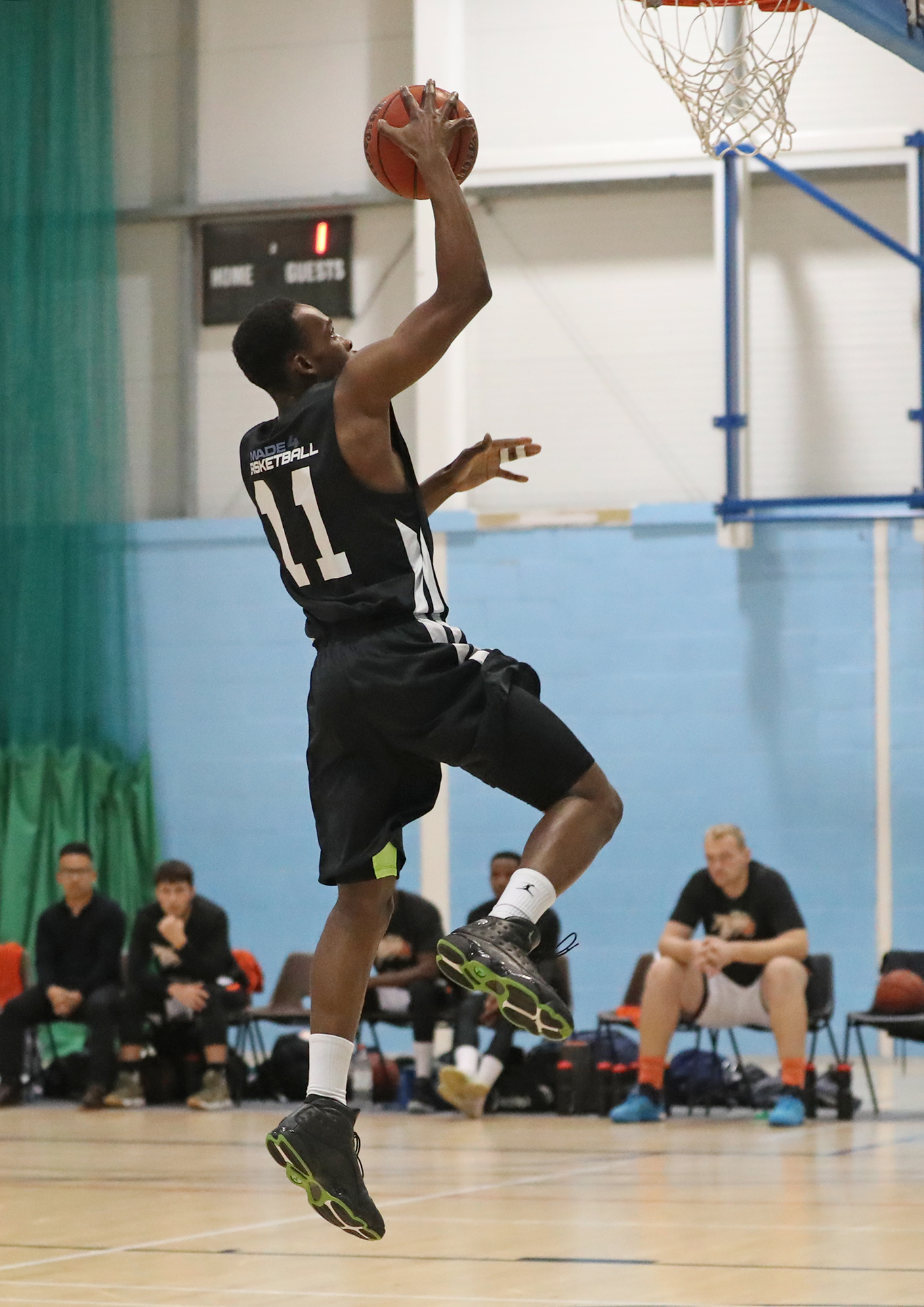 Jermayne Laing bucketed an impressive 22 points for Bradford Dragons in their 114-84 win over Hemel Storm in Division One of the National Basketball League Picture: Alex Daniel Photography