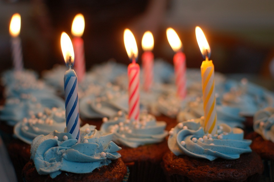 Birthday candles. Photograph by Pixabay