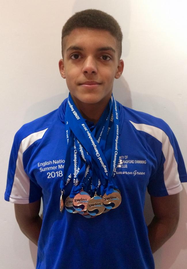 Cameron Green was in superb form for City of Bradford Swimming Club again