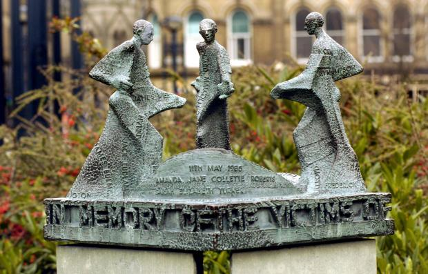The Bradford City Fire memorial