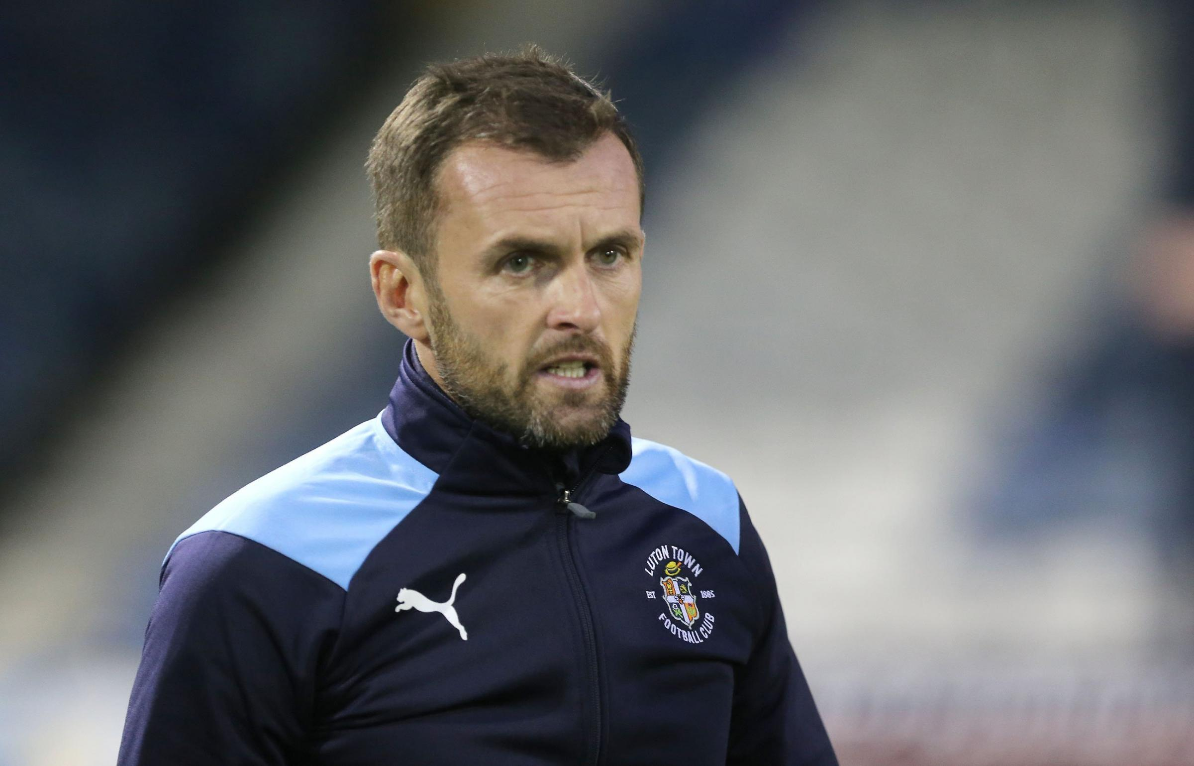 Luton manager Nathan Jones - Pic by: Richard Parkes.
