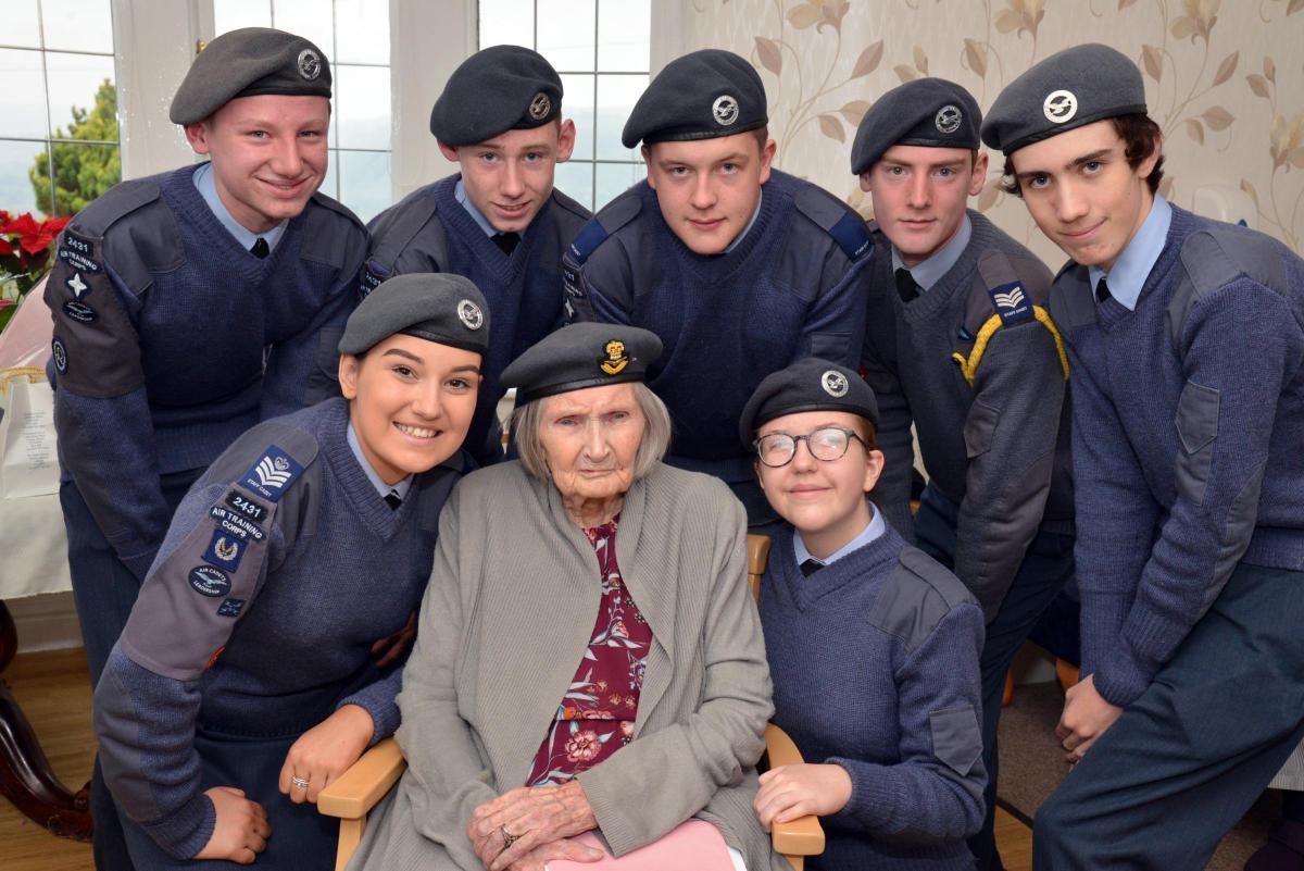 Cadets Help Battle Of Britain Veteran Celebrate 100th Birthday