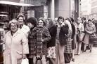 The queue outside a bread shop in Broadway November 1978