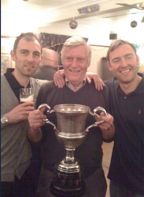 Fred Watson, middle, a stalwart of football in Wharfedale, has died