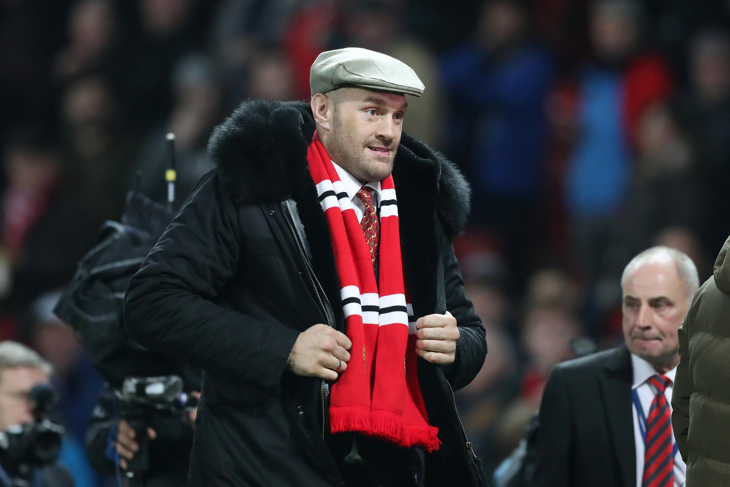 Tyson Fury was at Old Trafford on Wednesday