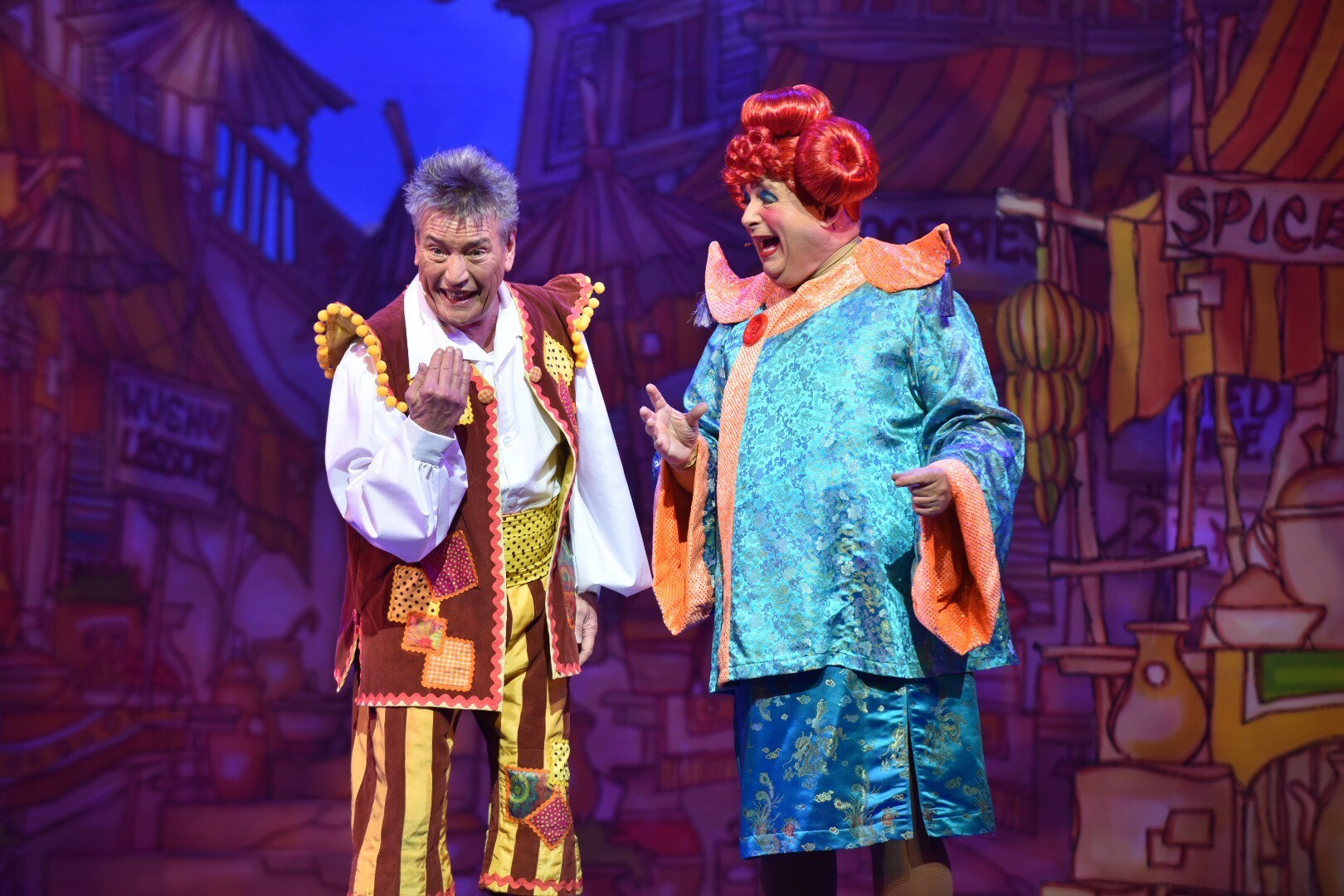 Billy and pals fly in for panto fun