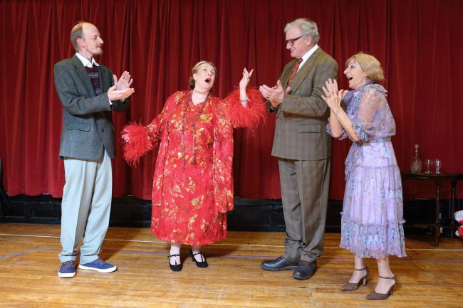 Andy Price, Helen Clarke, Brian Stoner and Gilly Rogers in Bingley Little Theatre's Glorious!