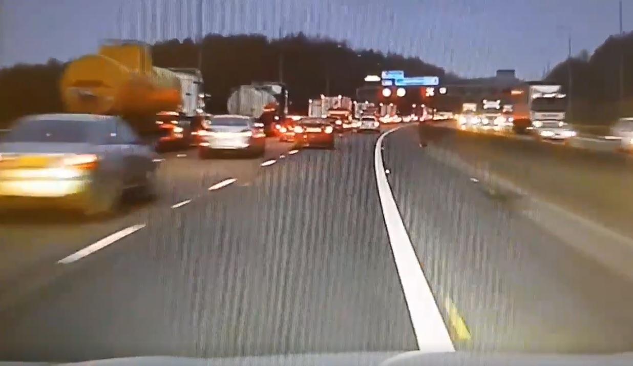 Police release footage warning of dangers of ignoring motorway lane closures