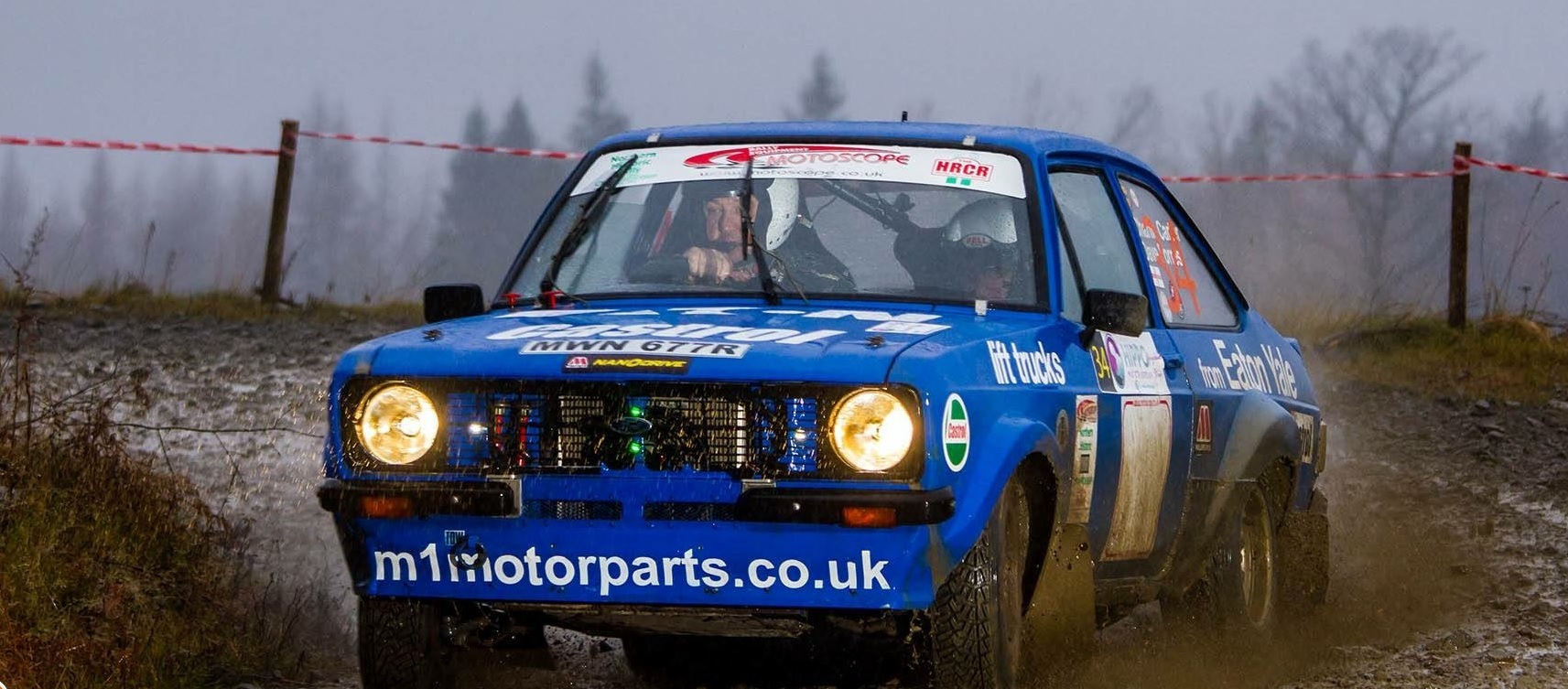 Driver Dave Forrest and co-driver Charlie Carter raced to victory in the HRCR Motorscope Northern Historic Gravel Rally Championship in a fully rally-prepared group 4 Ford Escort Mk 2. Picture: Chasingthecars.com