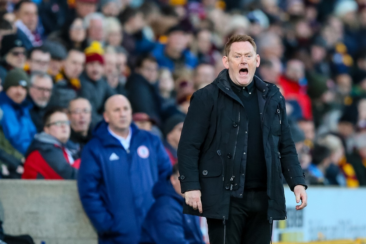 David Hopkin missed out on League One's manager of the month award for December. Picture: Thomas Gadd