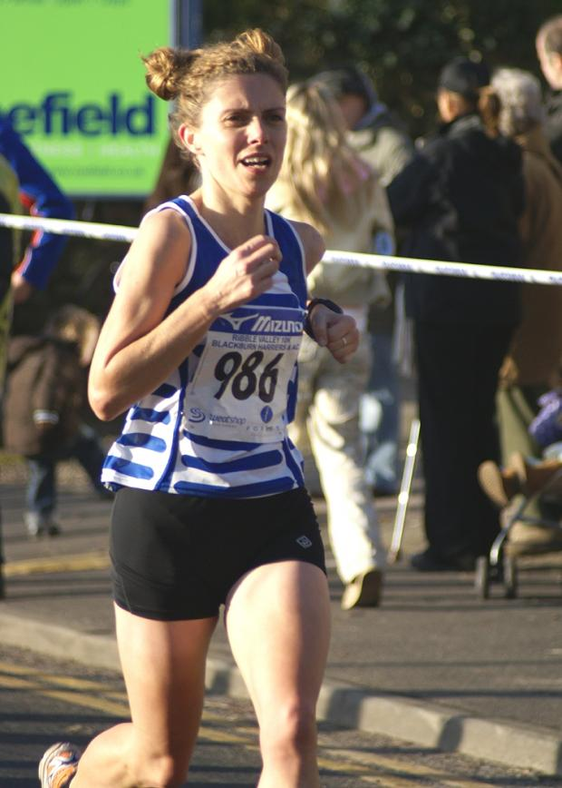 Sarah Jarvis's fast third leg helped Bingley clinch national title