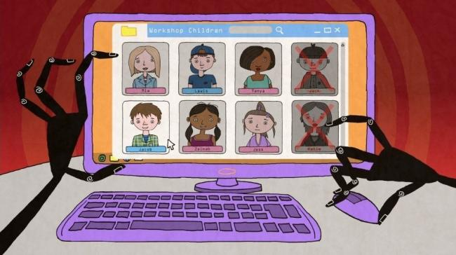 A still from the Mr Shapeshifter animation, helping children stay safe online