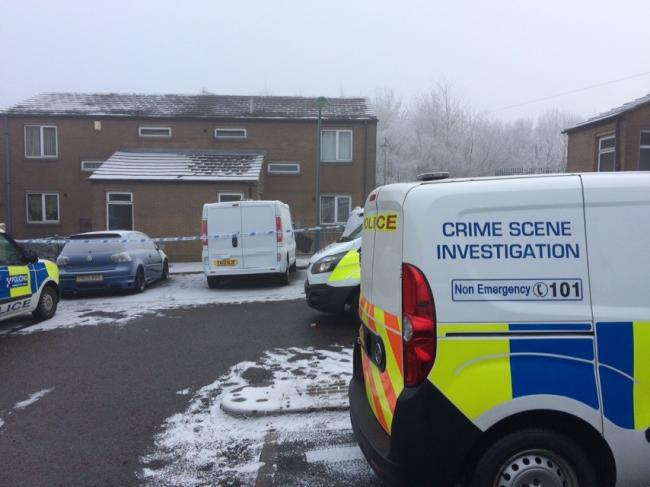 The scene of the incident at Greenholme Court, Holme Wood