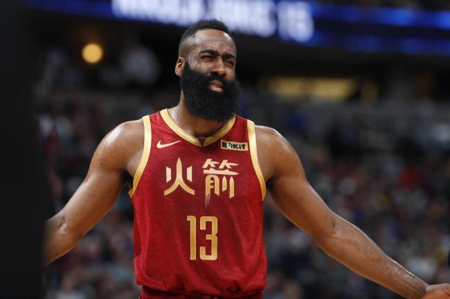a251ae15e92 Harden s 30-point performance in vain as Denver Nuggets beat Houston ...