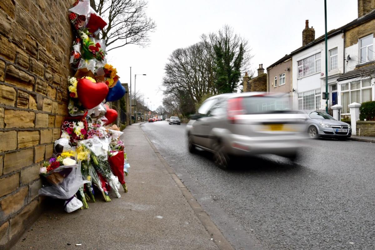 Floral tributes left to Harrogate Road crash victim Brad Aldridge