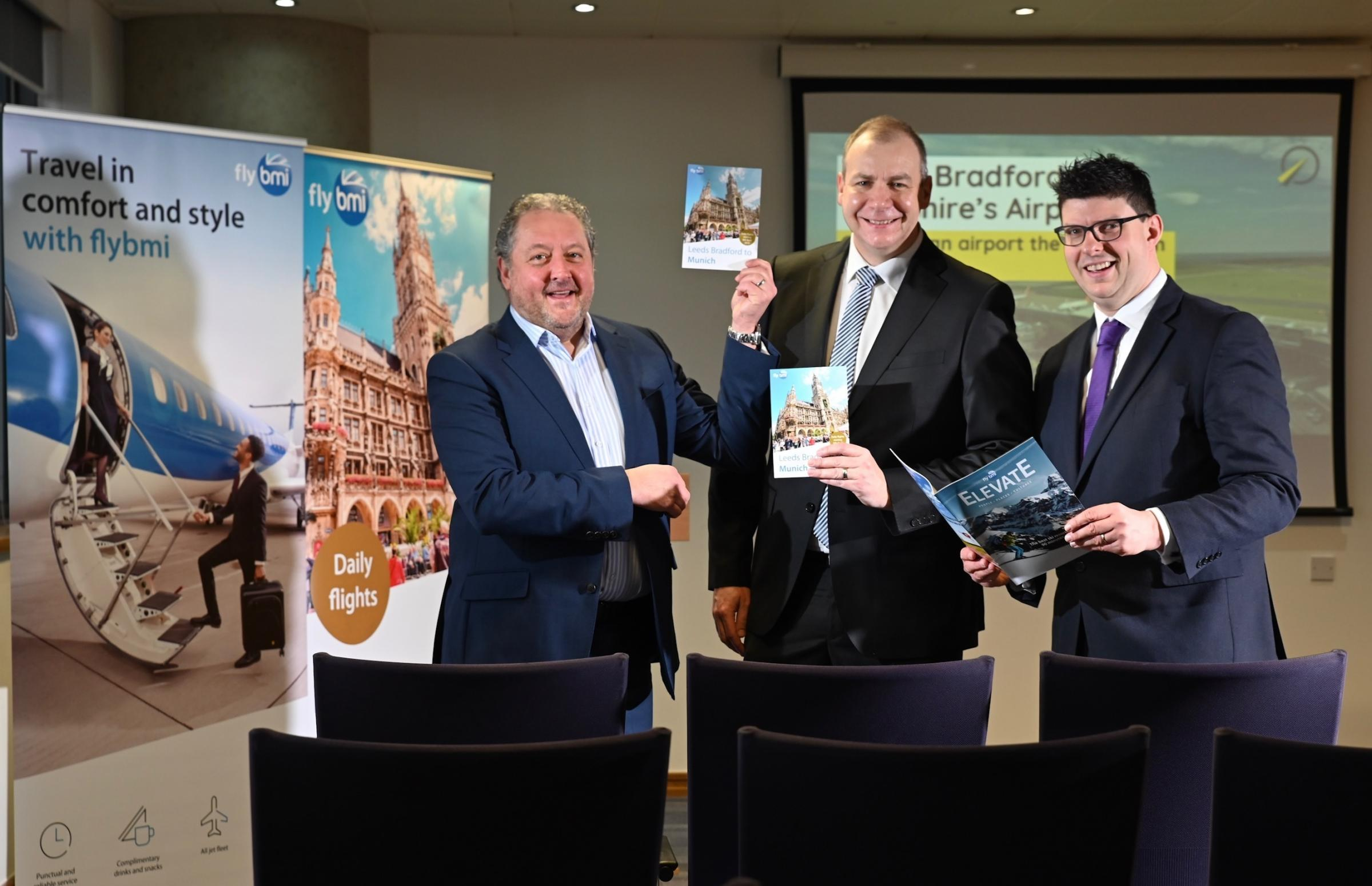 A promotional event for FlyBMI's new route from Leeds Bradford to Munich, taken last week