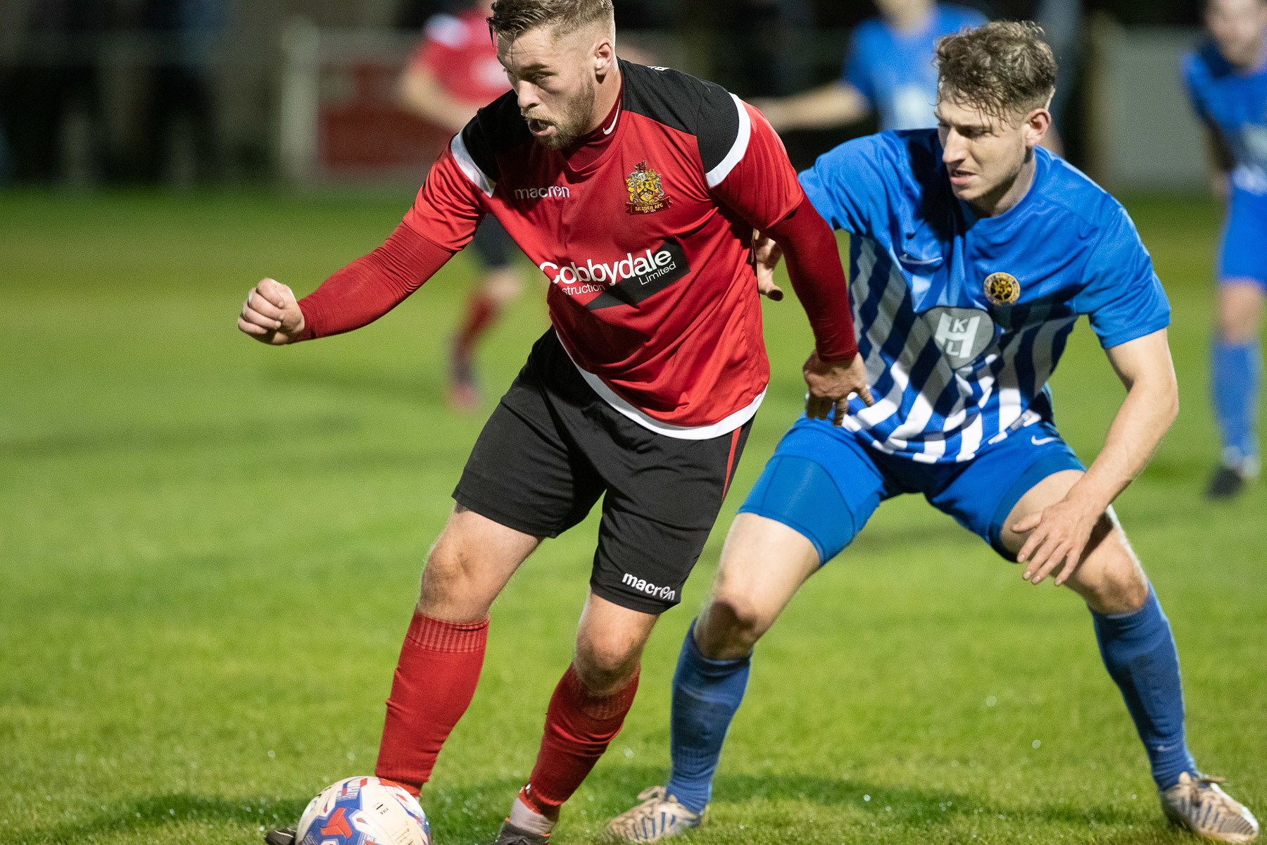 Aidan Kirby scored the winner for Silsden at Squires Gate. Picture: David Brett