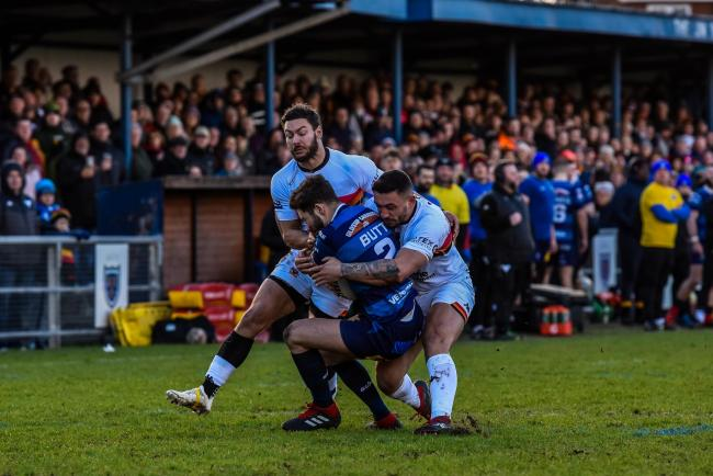 Action from Swinton Lions's home clash with Bradford Bulls this season. Picture: Tom Pearson