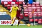 City manager David Hopkin held defender Nathaniel Knight-Percival, right, partly responsible for their side conceding the only goal of then game against Fleetwood Town. Picture: Thomas Gadd