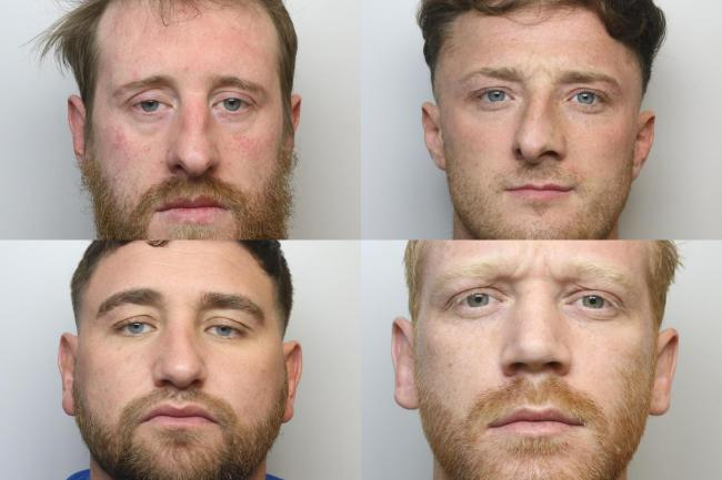 These four men were sentenced to 16 years in jail between them at Bradford Crown Court Pictures: West Yorkshire Police VPO