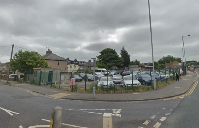 The car sales site on Manchester Road - image from Google Street View