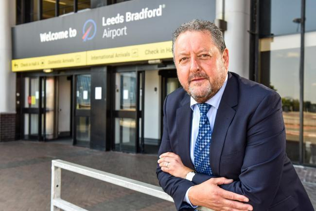 Leeds Bradford Airport Chief Executive David Laws.