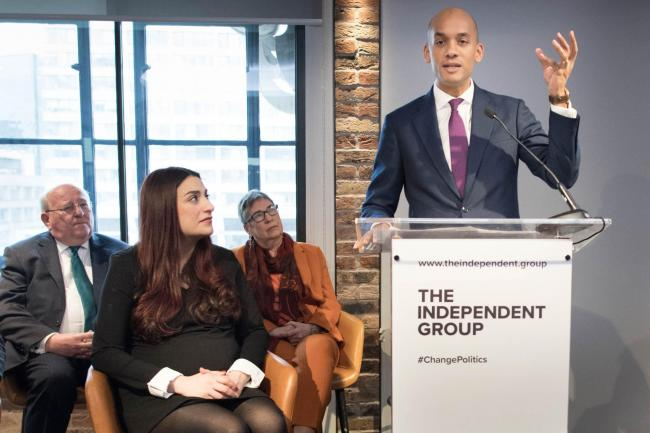 Labour MP Chuka Umunna who has announced his resignation during a press conference at County Hall in Westminster, London, along with a group of six other Labour MPs, Luciana Berger, Mike Gapes, Angela Smith, Chris Leslie, Ann Coffey and Gavin Shuker, who