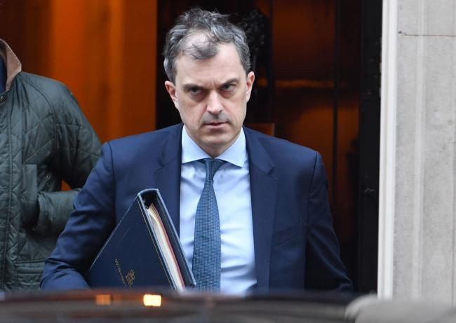 Chief Whip Julian Smith leaves 10 Downing Street, London. Picture: John Stillwell/PA Wire