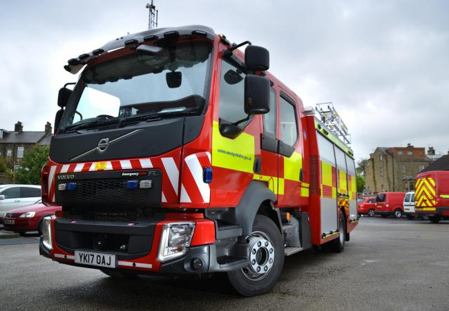 A fire crew from Odsal was sent to tackle the blaze just after 4pm today