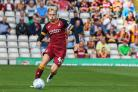 Josh Wright played as part of a Bradford City Youth team against Thackley, having not featured for the first team since November     Picture: Thomas Gadd