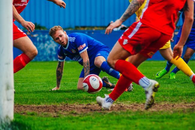 Nathan Cartman was on target during Farsley Celtic's home draw with Hyde