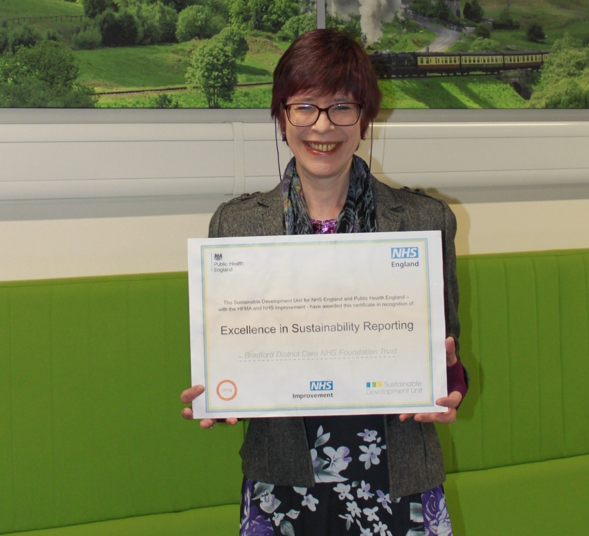 Care trust recognised for its sustainability efforts